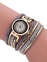 cheap -Women's Bracelet Watch Quartz New Design Casual Watch Imitation Diamond PU Band Analog Casual Fashion Black / White / Blue - Fuchsia Brown Blue One Year Battery Life