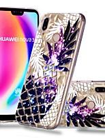 Недорогие -Кейс для Назначение Huawei P20 / P20 lite Прозрачный / С узором Кейс на заднюю панель Фрукты Мягкий ТПУ для Huawei P20 / Huawei P20 Pro / Huawei P20 lite