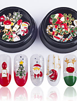 cheap -1 pcs Sequins Best Quality Snowflake Shoe nail art Manicure Pedicure Christmas / Daily Colorful