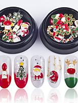 preiswerte -1 pcs Pailletten Beste Qualität Schneeflocke Schuh Nagel Kunst Maniküre Pediküre Weihnachten / Alltag Mehrfarbig