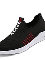 cheap -Men's Light Soles Knit / Mesh Summer Comfort Sneakers Black / White / Black / Red
