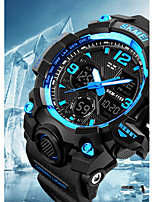 Недорогие -SKMEI Муж. Для пары Наручные часы электронные часы Цифровой 50 m Защита от влаги Календарь Секундомер PU Группа Аналого-цифровые На каждый день Мода Черный - Желтый Красный Синий / Хронометр