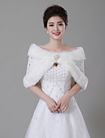 cheap -Sleeveless Faux Fur Wedding / Birthday Women's Wrap With Rhinestone / Crystal Brooch Capelets