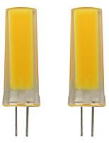 Недорогие -2pcs 3 W 150-200 lm G4 Двухштырьковые LED лампы 1 Светодиодные бусины COB Декоративная Тёплый белый / Холодный белый 110-120 V