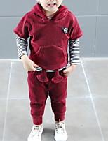 Недорогие -малыш Мальчики Полоски Длинный рукав Набор одежды