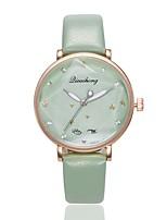 Недорогие -Жен. Нарядные часы Наручные часы Кварцевый Новый дизайн Повседневные часы PU Группа Аналоговый На каждый день Мода Черный / Синий / Зеленый - Зеленый Розовый Светло-синий Один год Срок службы батареи