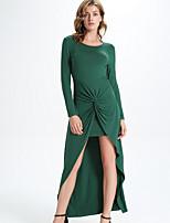 cheap -Women's Party Basic Sheath Dress - Solid Colored Split High Waist