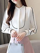 cheap -women's blouse - color block stand
