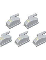 cheap -BRELONG® 5pcs LED Night Light Cold White Other Battery Powered Decoration / Cupboard / Wardrobe <5 V