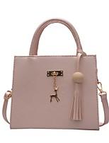 cheap -Women's Bags PU(Polyurethane) Tote Tassel Black / Blushing Pink / Silver