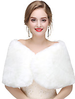 cheap -Sleeveless Faux Fur Wedding / Party / Evening Women's Wrap With Solid Capelets