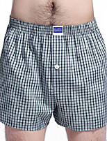 cheap -Men's Briefs Underwear Color Block Mid Waist