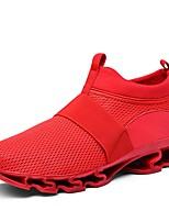 Недорогие -Муж. Комфортная обувь Сетка Наступила зима На каждый день Кеды Белый / Черный / Красный