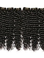 Недорогие -6 Связок Бразильские волосы Крупные кудри Натуральные волосы Пучок волос / One Pack Solution / Накладки из натуральных волос 8-28 дюймовый Естественный цвет Ткет человеческих волос