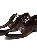 Недорогие -Муж. Официальная обувь Полиуретан Весна & осень Туфли на шнуровке Черный / Коричневый / Для вечеринки / ужина