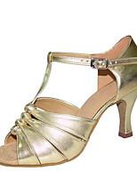 economico -Per donna Scarpe per balli latini Raso Sandali / Tacchi Tacco a rocchetto Personalizzabile Scarpe da ballo Oro / Bianco / Argento