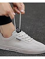Недорогие -Муж. Комфортная обувь Полотно Весна & осень На каждый день Кеды Белый / Черный / Красный
