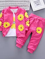 abordables -Niños Chica Flor solar Floral Manga Larga Conjunto de Ropa