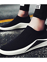 cheap -Men's Comfort Shoes Elastic Fabric Spring &  Fall Casual Loafers & Slip-Ons Black / Black / Silver / Red