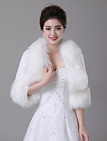 cheap -Sleeveless Faux Fur Wedding / Party / Evening Women's Wrap With Split Joint Shrugs