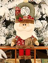 economico -Statuine natalizie Vacanza Tessuto Cubo Giocattolo del fumetto Decorazione natalizia