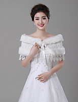 cheap -Sleeveless Faux Fur Wedding / Party / Evening Women's Wrap With Pendant / Lace-up / Ruffle Capelets