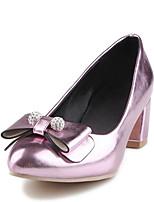Недорогие -Жен. Обувь Полиуретан Весна Удобная обувь Обувь на каблуках На толстом каблуке Золотой / Серебряный / Розовый