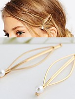 cheap -Make Up Mixed Material Clips Decorations / Clips Women / Convenient 6 pcs Daily Wear Headpieces / Jewelry Golden