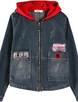 Недорогие -Жен. Джинсовая куртка Уличный стиль - Современный стиль