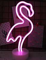cheap -1 set Flamingo LED Night Light RGB AA Batteries Powered For Children / Lovely / Safety <5 V