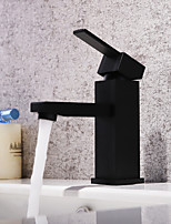cheap -Bathroom Sink Faucet - Waterfall / Widespread Painting Deck Mounted Single Handle One Hole