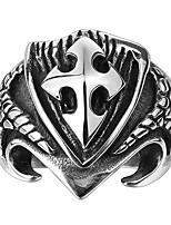 Недорогие -Муж. Старинный 3D Кольцо - нержавеющий Креатив Винтаж, Панк 9 / 10 Черный Назначение Повседневные Для улицы