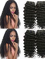 Недорогие -4 Связки Перуанские волосы Крупные кудри Натуральные волосы Wig Accessories / Подарки / Человека ткет Волосы 8-28 дюймовый Естественный цвет Ткет человеческих волос Машинное плетение