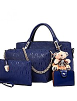cheap -Women's Bags PU(Polyurethane) Bag Set 3 Pcs Purse Set Solid Purple / Yellow / Fuchsia