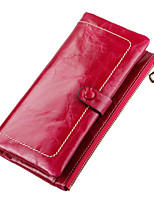 cheap -Women's Bags PU(Polyurethane) Wallet Buttons / Solid Light Green / Fuchsia / Brown