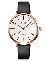 cheap -SKMEI Women's Dress Watch Wrist Watch Quartz 30 m Water Resistant / Water Proof Casual Watch Genuine Leather Band Analog Casual Fashion Black / White / Blue - Red Blue Pink One Year Battery Life
