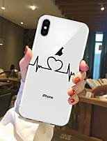 billiga -fodral Till Apple iPhone X / iPhone 8 Genomskinlig / Mönster Skal Hjärta Mjukt TPU för iPhone X / iPhone 8 Plus / iPhone 8