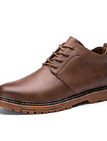 cheap -Men's Nappa Leather Fall & Winter Comfort Boots Booties / Ankle Boots Black / Brown