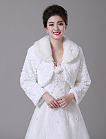 cheap -Sleeveless Faux Fur Wedding / Party / Evening Women's Wrap With Pendant Shrugs