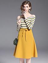 cheap -Women's Set - Striped Skirt