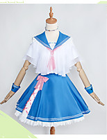 economico -Ispirato da My Hero Battaglia Academy For All / Boku no Eroe Academia Cosplay Anime Costumi Cosplay Abiti Cosplay Manga / Fiocco / Marinaro Other / Top / Gonna Per Per donna