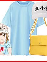 baratos -Inspirado por Células no Trabalho Kesshoban Anime Fantasias de Cosplay Trajes da Noite das Bruxas Ternos de Cosplay Côr Sólida Bolsa / Camiseta / Chapéu Para Mulheres