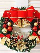 economico -Ghirlande / Decorazioni Vacanza Plastica Tonda Originale Decorazione natalizia