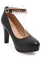 Недорогие -Жен. Обувь Полиуретан Осень Удобная обувь Обувь на каблуках На шпильке Белый / Черный / Розовый