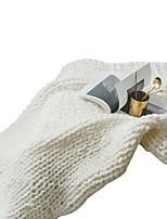 baratos -Super Suave, Impressão Reactiva Sólido / Listrado Fibras Acrilicas cobertores