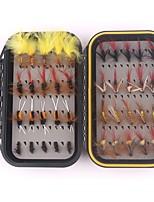 Недорогие -40 pcs штук рыболовные крючки / Набор для рыбалки / Рыболовные принадлежности Мухи Перья / Углеродистая сталь Легкий и удобный / Прост в применении