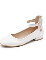 Недорогие -Жен. Комфортная обувь Полиуретан Весна Обувь на каблуках На низком каблуке Белый / Черный