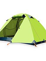 Недорогие -BSwolf 3 человека на открытом воздухе Семейный кемпинг-палатка Дожденепроницаемый Воздухопроницаемость Карниза Однокомнатная Двухслойные зонты >3000 mm Палатка для Рыбалка Восхождение Пляж