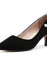 Недорогие -Жен. Комфортная обувь Замша Весна Обувь на каблуках На шпильке Черный / Коричневый / Розовый