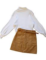 cheap -Women's Street chic Set - Color Block Skirt
